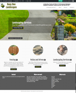 Busy Bee Landscapes Landscaping Fencing and Patios in Finchampstead Wokingham Sandhurst Crowthorne Twyford and area. Call 0118 973 1707
